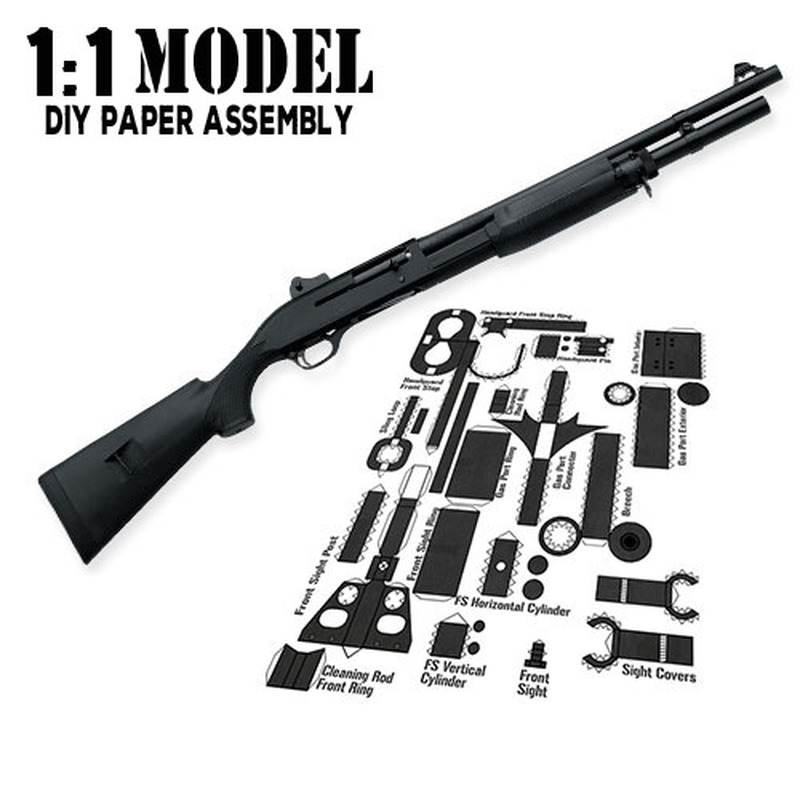 1:1 M3 Toy Gun Model Paper Assembled Educational Toy Building Construction Toys Card Model Building Sets
