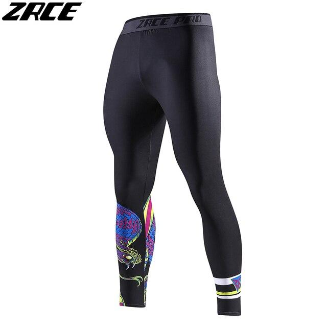 b037b1855ff56 ZRCE Skinny Fashion Fitness Leggings Men 3d Printer SnakMatching Pants Plus  Size Compression Pants Elastic Waist Full Men Length