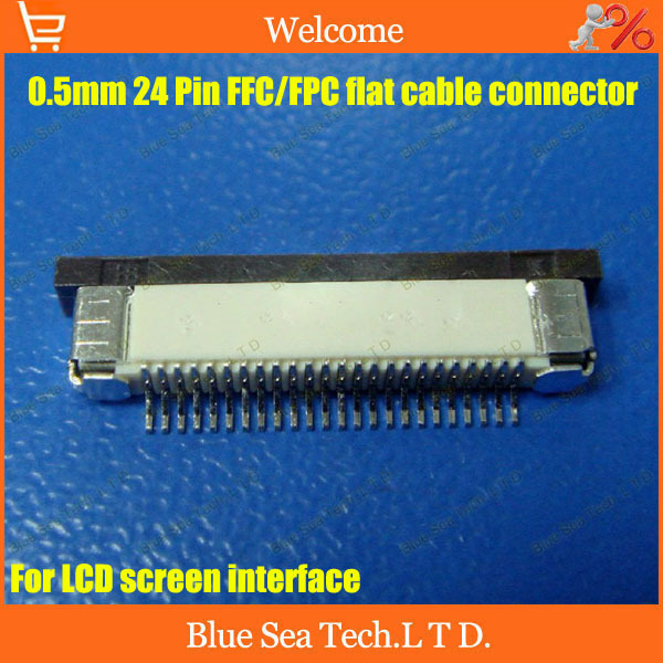 Free Shipping Fpc Ffc Connector Cable Socket 24 Pin 0 5mm