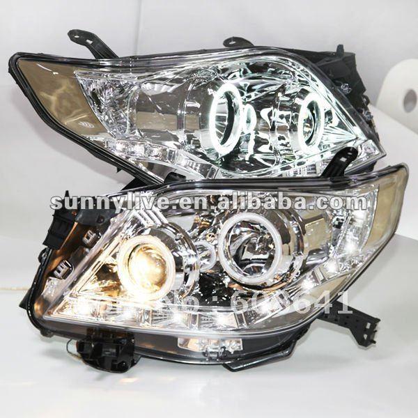 Boîtier chromé Prado 2700 FJ150 phare LED pour Type toyotaV2