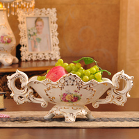 fruit basket, fruit plate ceramic jewelry Home Furnishing living room coffee table decoration wedding ceremony