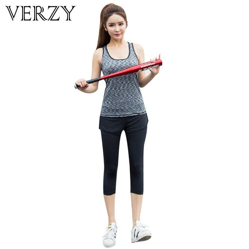 Women Yoga Set font b Sport b font Suit 2018 Vest Pants Elasticity Gym font b