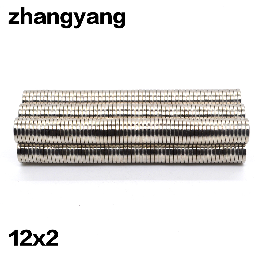ZHANGYANG 40pcs 12mm x 2mm Rare Earth Neodymium Super Strong Magnets Strong Round Magnet N35 Rare Earth NdFeB magnet Free Ship 10pcs lot n52 12 2mm strong ndfeb magnets bulk super round disc rare earth neodymium magnet 12mm x 2mm aps0534
