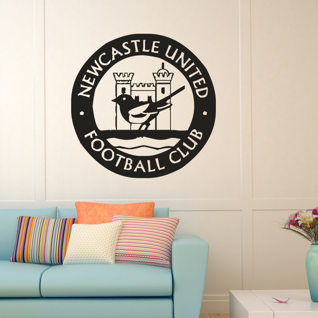 Newcastle united quote wall decals artstry removable pvc wall stickers home decor bedroom diy wall art