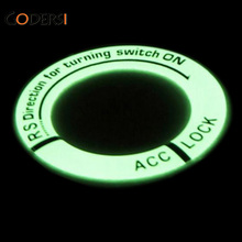 2016 New Glow Key Ring Sticker Luminous Ignition Switch Cover Car Styling Circle Light Decoration Universal For Car Motorcycle