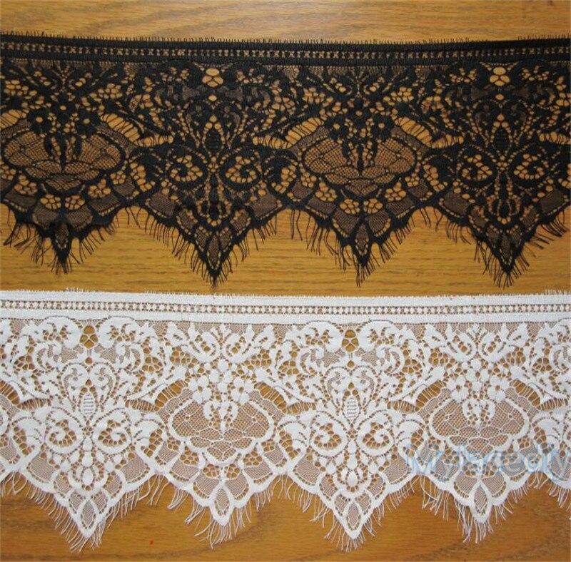 1m x 19cm White Lace