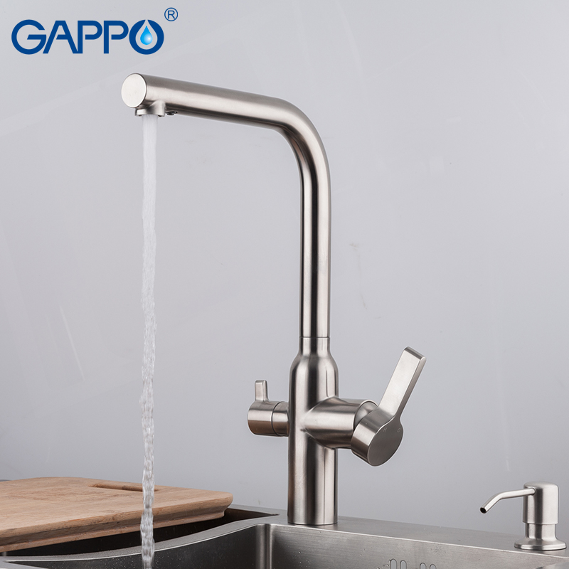 Купить с кэшбэком GAPPO kitchen faucet with filtered water kitchen sink faucet water sink crane taps water mixer crane torneira cozinha