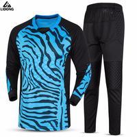 New Football Kits Soccer Doorkeeper Goalkeeper Jerseys Sets Long Sleeve Jackets Tops & Pants Trousers Trainning Tracksuits Hot