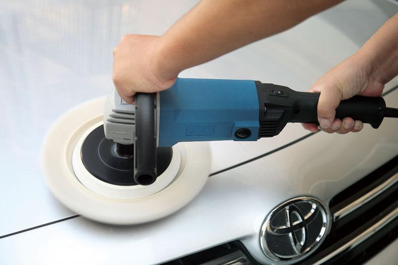 Leštička na auto 1400 W 180mm, 100% vlnkový voskovací stroj 220v - Elektrické nářadí - Fotografie 2