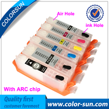 6pcs for Canon BCI-370 BCI-371 BCI371 Refillable Ink Cartridge For Canon PIXMA MG7730 MG6930 MG5730 Printer With ARC Chips