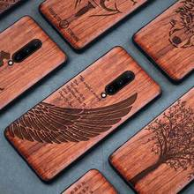 Nature Wood Case For Oneplus 7 & 7 Pro 1+7 Laser Engraving Pattern Wooden TPU Protection Anti-Fingerprints Mobile Phone Cover