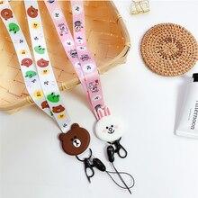WTSZKL Cartoon Cute Lanyard Neck Strap for keys ID Card Mobile Phone Straps iPhone Huawei USB Badge Holder DIY Hang Rope