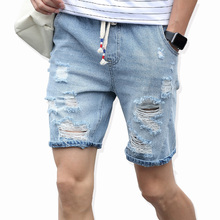 2019 Men's cotton thin denim shorts New fashion summer male Casual short jeans Soft and comfortable casual shorts Free shipping