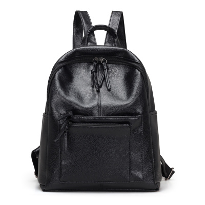 2017 New High Quality Fashion Black Women Backpack PU Leather Backpacks Vintage School Bags for Girls  Travel Shoulder Bag high quality women leather backpacks vintage backpack women school bags 2015 new arrival bags design wholesale backpacks bb28