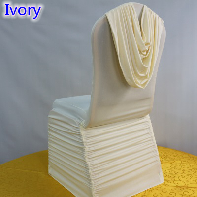 Wondrous Us 4 0 Ivory Colour Universal Lycra Chair Covers Ruffled Top Cover Chair Spandex Pleated Luxury Wedding Decoration Wholesale In Chair Cover From Creativecarmelina Interior Chair Design Creativecarmelinacom