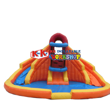 Malaysia Markets PVC Commercial inflatable water park for entertianing with water slide