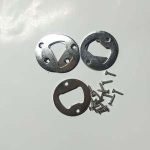 Image 4 - 50pcs Stainless Steel Bottle Opener Part With Countersunk Holes Round Metal Strong Polished Bottle Opener Insert Parts