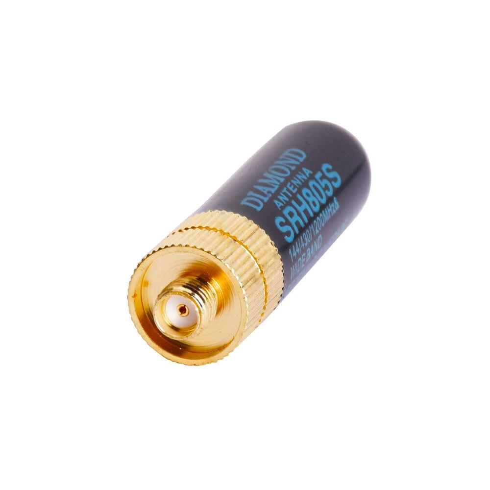 5cm SMA-F Female Dual Band UHF/VHF BAOFENG walkie talkie Antenna SRH805S Original DIAMOND ANTENNA for BAOFENG UV-5R BF-888S
