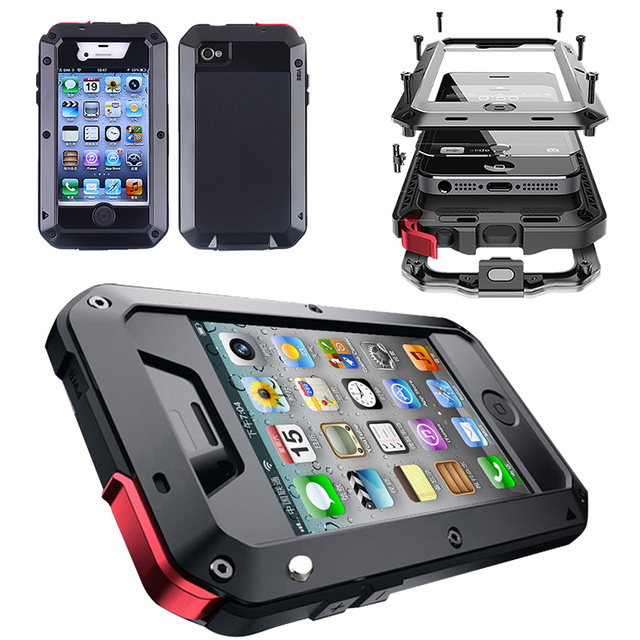 Tempered Gl Heavy Duty Tough Rugged Hybrid Shockproof Armor Case For Iphone X Xs 4 4s