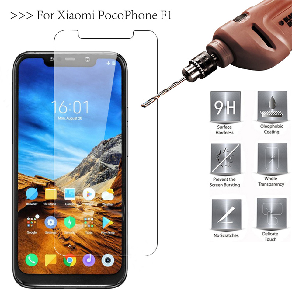 9H 2.5D 0.26mm Tempered Glass For Xiaomi Pocophone F1 Mi Max 2 3 Screen Protector Glass For Xiaomi Pocophone F1 Protective Film