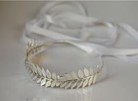 Gold Silver 2colorTiara Pearl Wedding Headband Baroque Hair Jewelry Bridal Hair Accessories Gold Leaves Bridal Wedding