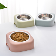 1Pc Stainless Steel Pet Bowl Detachable Plastic Water Food Dog Feeding Non-slip Puppy Cat Bowls Supplies 29