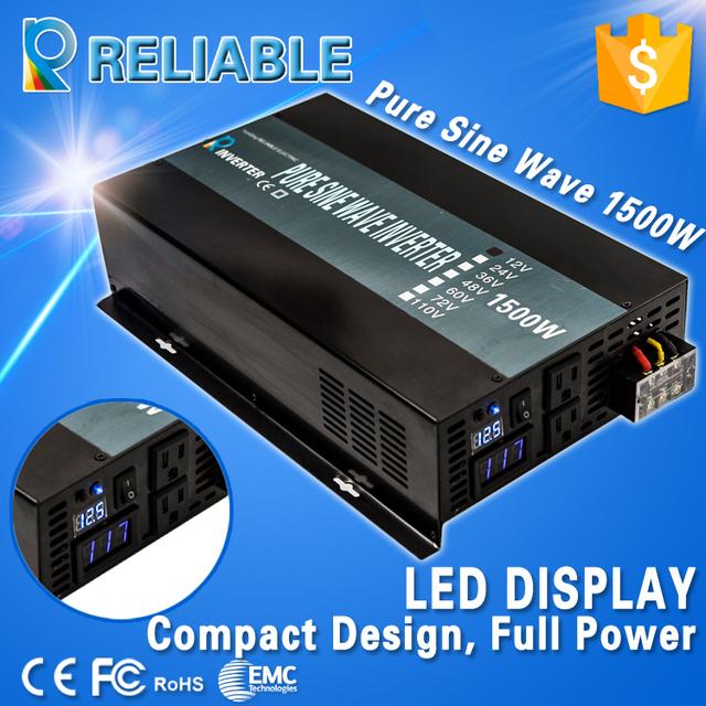LED Display 1500w Off Grid DC AC Converter Transformer Inverter Pure Sine Wave Power Inverter Solar Power Inverter