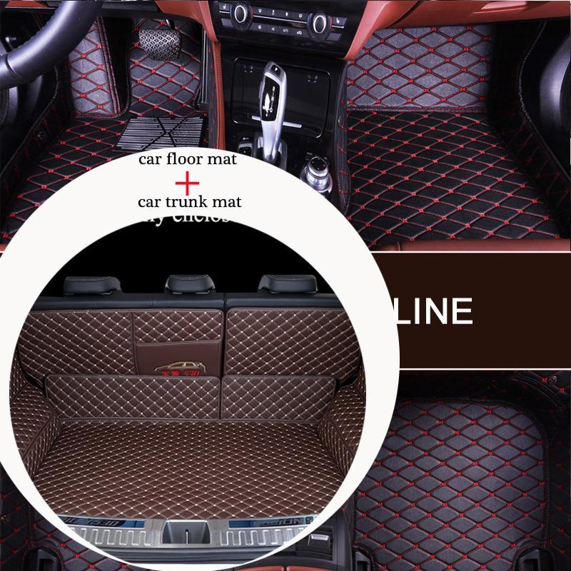Tapis de coffre de voiture et coussin de sol combinaison pack personnalisé pour TOYOTA Crown RAV4 Highlander Corolla Camry Land Cruiser Sienna souhait