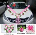 9 Style  Heart-shaped Wedding Car Decoration Flower Korean Float Head Deputy Car PE Rose Flower
