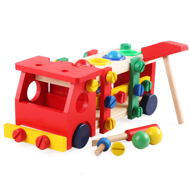 Wooden Assembly Toy Truck Puzzle 20