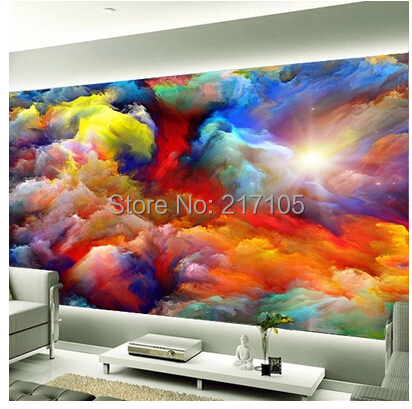 Custom wallpaper sky clouds wall backdrop for the living room bedroom Ceiling fresco waterproof vinyl wallpaper 3D wallpaper custom 3d stereo ceiling mural wallpaper beautiful starry sky landscape fresco hotel living room ceiling wallpaper home decor 3d
