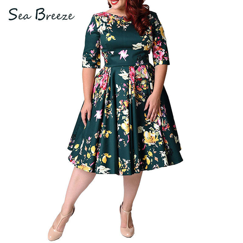 Sea Breeze 2017 Europe Summer Plus Size Women O Neck Half