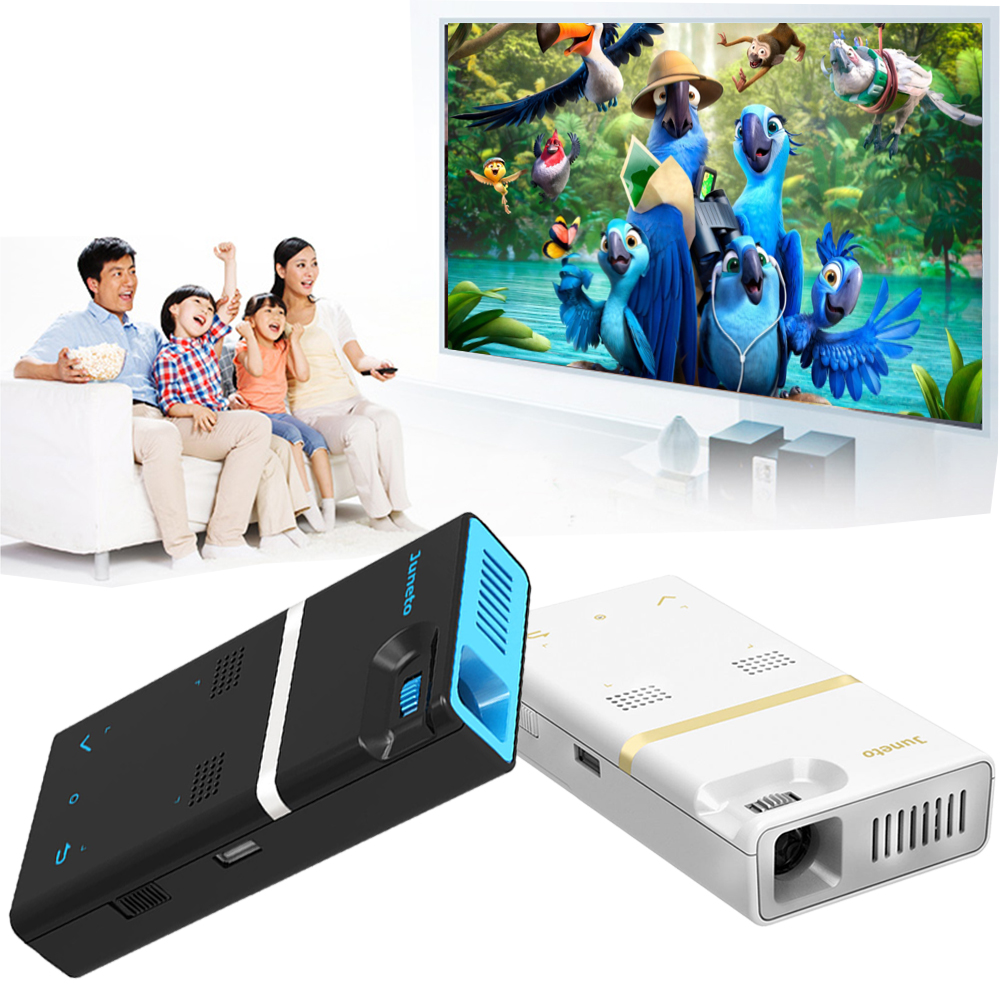 H150 Home Office Meeting Projector Mini Wireless Wifi Bluetooth Android 4.4 Mobile Phone Theater Cinema Digital HDMI Projector