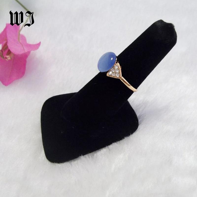 Black Velvet Finger Ring Stand Jewelry Display Holder Engagemnet Wedding Ring Bague Showed Case for Jewellery Store Supplies