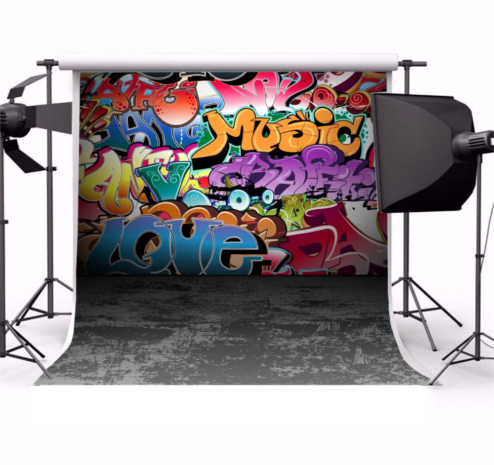 Laeacco Old Ground Grunge Style Wall Painted Photo Backgrounds Customized Vinyl Digital Photography Backdrops For Photo Studio in Background from Consumer Electronics