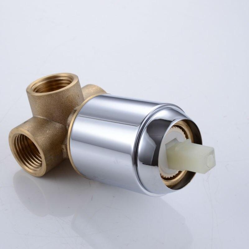 buy kes x6200 bathroom single handle shower trim valve body complete kit minimalist round polished chrome from reliable chrome shower