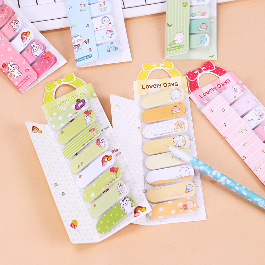Cute Kawaii Cartoon Animal Finger Unicorn Memo Pad N Times Sticky Note Paper Korean Stationery Cat Planner Sticker School Office To Enjoy High Reputation In The International Market Notebooks & Writing Pads Office & School Supplies