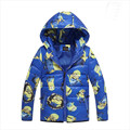 2016 Moda Meninos Assecla Inverno Coats & Jacket, Roupas Crianças casaco Meninas jaqueta de Inverno Quente com capuz crianças jaquetas 3-9 T 3 Cores