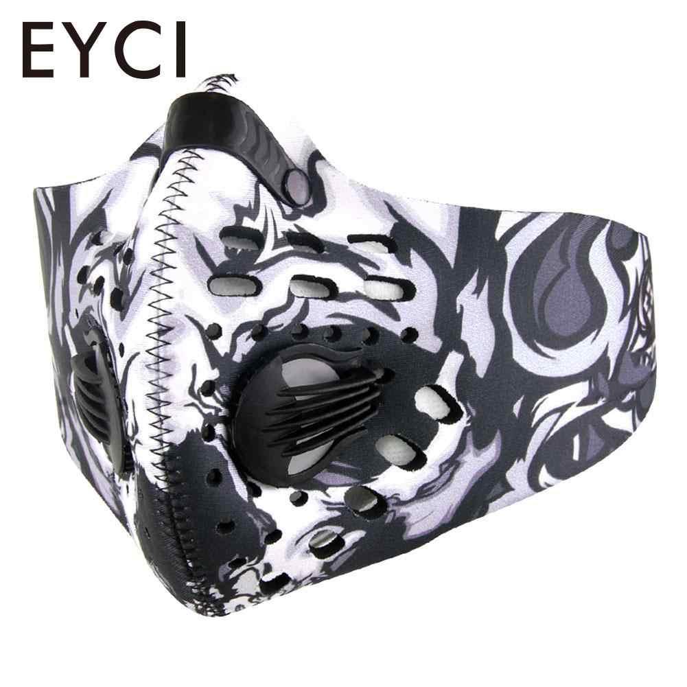 Мужская/Женская пыль из активированного угля-Защитная велосипедная маска для лица-загрязнения велосипед Открытый тренировочная маска для защиты лица