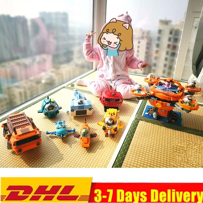 HOT nouveau 8 pièces/ensemble idées de créateur ville pieuvre poulpe Octonauts dessin animé blocs de construction modèle ensembles enfants jouets Legoings Duplo