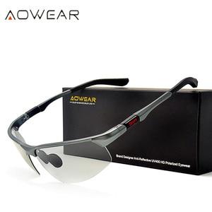 Image 3 - AOWEAR HD الرجال اللونية الاستقطاب النظارات الشمسية الرجال الاستقطاب الحرباء نظارات ليوم ليلة القيادة مضادة للوهج نظارات Gafas
