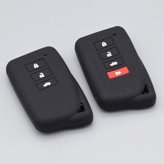3/4 כפתור רכב מפתח מגן לקסוס הוא ES GS NX GX RX LX RC 200 250 300 350 2014 2015 2016 סיליקון Keyless fob כיסוי מקרה