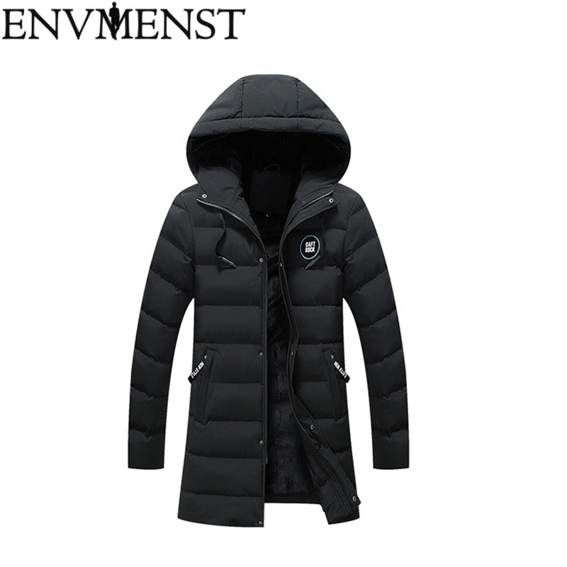 2018 New Winter Men's Parkas Hooded Thick Windbreaker Brand Clothing Man's Slim Fit Warm Jacket Male Wear   Coats   Plus Size 5XL