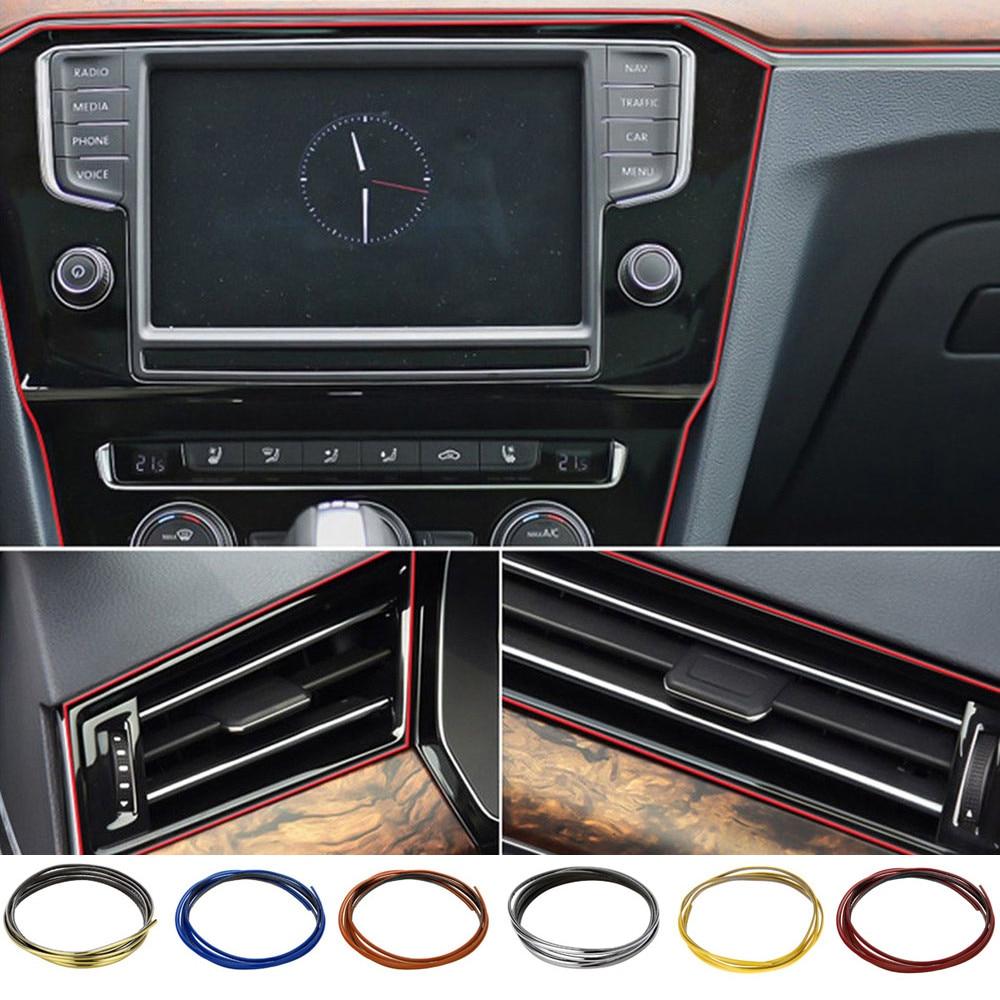 5M Car DIY Interior Decor Door Sticker Moulding Styling Strip Trim Line 5-Colors