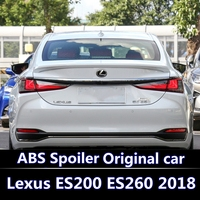 For LEXUS 2018 2019 ES260 ES300 ES200 Spoiler High Quality ABS Material Car Rear Wing Primer Color Rear Spoiler White and black