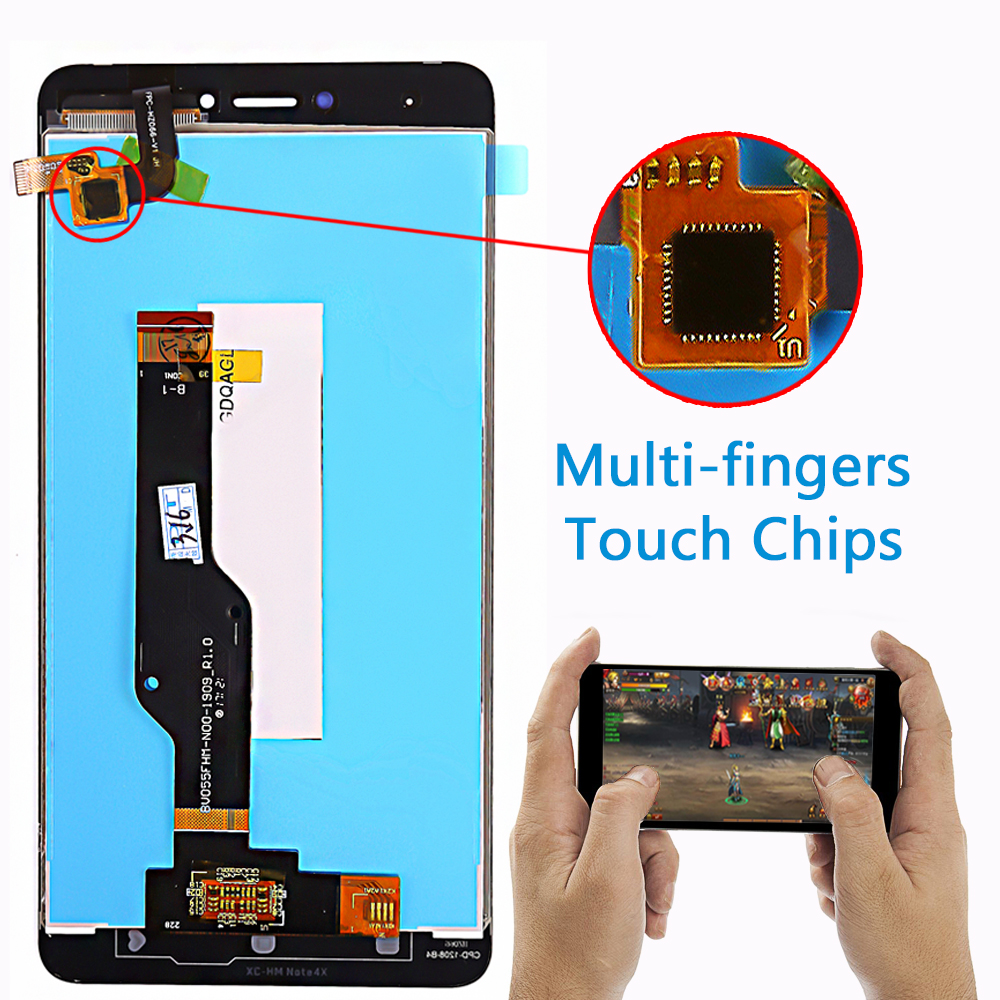 HTB1rSRoPCzqK1RjSZPcq6zTepXaY LCD display For Xiaomi Redmi Note 4X / Note 4 Global (CPU:Snapdragon 625) touch screen digitizer assembly Frame 10 Multi-Touch
