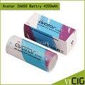 ICR 18650 3.6 V 2000 mah 30A Avatar Avatar INR 26650 batería 4200 mah Batería De Litio Recargable 2 unids/lote