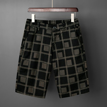 New famous Brand High quality Cotton shorts Summer men Plaid boardshort 2019