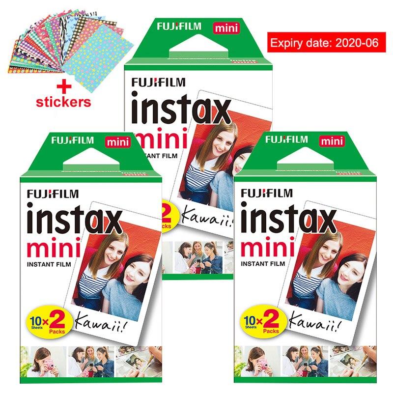 Original Fuji Fujifilm Instax Mini 8 Film 60 stücke Weiß Rand Foto Papiere Für Polaroid 9 7 s 8 90 25 55 teilen SP-1 Instant Kamera