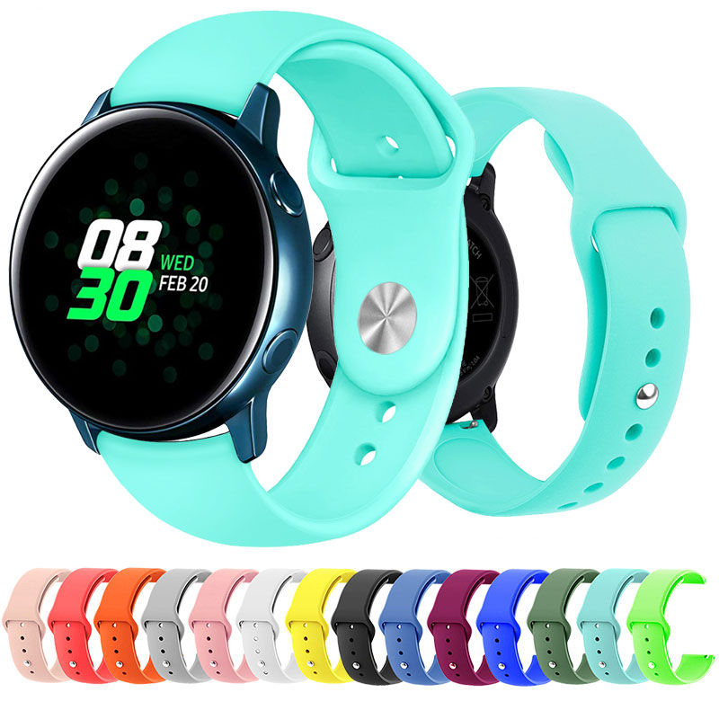 20mm 22mm Universal Sport Silicone Band Strap For Samsung Galaxy Active Watch 42 46mm Band Gear S2 S3 Quick Release WatchBand